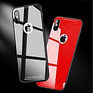 Недорогие Кейсы для iPhone 8-Кейс для Назначение Apple iPhone X / iPhone 8 Защита от удара / Зеркальная поверхность Кейс на заднюю панель Однотонный Твердый Закаленное стекло для iPhone X / iPhone 8 Pluss / iPhone 8