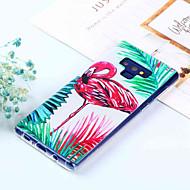 Недорогие Чехлы и кейсы для Galaxy Note-Кейс для Назначение SSamsung Galaxy Note 9 / Note 8 С узором Кейс на заднюю панель Фламинго Мягкий ТПУ для Note 9 / Note 8