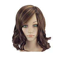 お買い得  -人工毛ウィッグ ウェーブ ボブスタイル・ヘアカット 合成 14 インチ ソフト / 耐熱 / 女性 ブラウン かつら 女性用 ミッドレングス キャップレス コッパーブラウン hairjoy