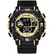levne -SMAEL Pánské Sportovní hodinky Digitální hodinky japonština Digitální Černá 30 m Voděodolné Kalendář Stopky Digitální Módní - Černá / červená Černá a zlatá / Svítící