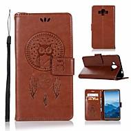 お買い得  携帯電話ケース-ケース 用途 Huawei Mate 10 ウォレット / カードホルダー / スタンド付き フルボディーケース フクロウ ハード PUレザー のために Mate 10
