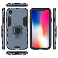 Недорогие Кейсы для iPhone 8 Plus-Кейс для Назначение Apple iPhone XR / iPhone XS Max Защита от удара / Кольца-держатели Кейс на заднюю панель Однотонный Твердый ПК для iPhone XS / iPhone XR / iPhone XS Max
