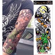 abordables Tatuajes Temporales-3 pcs Los tatuajes temporales Series de Tótem / Series de Flor Adhesivo suave / Ecológica / Desechable Artes de cuerpo Cuerpo / brazo / Pierna / Tatuajes temporales estilo calcomanía