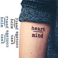 abordables Tatuajes Temporales-10 pcs Los tatuajes temporales Serie de mensajes Nuevo diseño / Novedades Artes de cuerpo Rostro / brazo / muñeca / Pegatina tatuaje