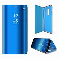 Недорогие Чехлы и кейсы для Galaxy S6 Edge Plus-Кейс для Назначение SSamsung Galaxy S9 Plus / S9 Зеркальная поверхность / Флип Чехол Однотонный Твердый ПК для S9 / S9 Plus / S8 Plus