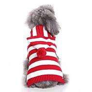 levne -Psi svetry Oblečení pro psy vyšívání / Barvená příze / Postavička Fuchsiová / Červená / Modrá Terylen Kostým Pro domácí mazlíčky Unisex Běžné / Denní / minimalistický styl