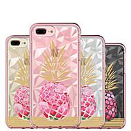 Недорогие Кейсы для iPhone 8 Plus-BENTOBEN Кейс для Назначение Apple iPhone 8 Plus / iPhone 7 Plus Защита от удара / Покрытие / Ультратонкий Чехол Фрукты / Цветы Твердый Силикон / ПК для iPhone 8 Pluss / iPhone 7 Plus
