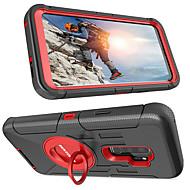 Недорогие Чехлы и кейсы для Galaxy S-BENTOBEN Кейс для Назначение SSamsung Galaxy S9 Plus / S9 Защита от удара / Кольца-держатели / Матовое Чехол Однотонный Твердый Силикон / ПК для S9 / S9 Plus / S8 Plus
