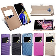 Недорогие Чехлы и кейсы для Galaxy Note-Кейс для Назначение SSamsung Galaxy Note 9 / Note 8 Бумажник для карт / со стендом / Флип Чехол Однотонный / Плитка Твердый Кожа PU для Note 9 / Note 8