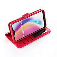 preiswerte Handyhüllen-Hülle Für Huawei P20 / P20 lite Geldbeutel / Kreditkartenfächer / Stoßresistent Ganzkörper-Gehäuse Solide Hart PU-Leder für Huawei P20 / Huawei P20 lite / P10 Plus