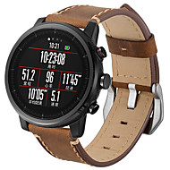 Недорогие Ремешки для часов Xiaomi-Ремешок для часов для Huami Amazfit A1602 Xiaomi Современная застежка Натуральная кожа Повязка на запястье