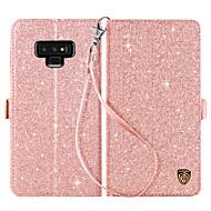 Недорогие Чехлы и кейсы для Galaxy Note-BENTOBEN Кейс для Назначение SSamsung Galaxy Note 9 Кошелек / Бумажник для карт / со стендом Чехол Однотонный Твердый Кожа PU / ПК для Note 9