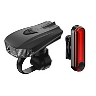 お買い得  フラッシュライト/ランタン/ライト-自転車用ヘッドライト LED 自転車用ライト サイクリング 防水, クイックリリース, カラーグラデーション リチウムイオン 100 lm AAA / USBパワード レッド キャンプ / ハイキング / ケイビング / サイクリング