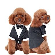 preiswerte Alles für Haushalt & Haustiere-Katze Hund Smoking Hundekleidung Schleife Schwarz Baumwolle Kostüm Für Haustiere Herrn Niedlich Cosplay Hochzeit