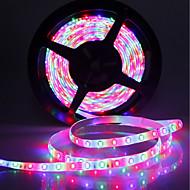 billiga -SENCART 5m Ljusuppsättningar 300 lysdioder SMD5630 1 44Kör fjärrkontrollen / 1 x 2A nätadapter RGB Klippbar / Dekorativ / Kopplingsbar 120-240 V 1set