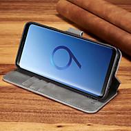 Недорогие Чехлы и кейсы для Galaxy S9 Plus-Кейс для Назначение SSamsung Galaxy S9 Plus / S9 Бумажник для карт / Защита от удара Чехол Однотонный Твердый Кожа PU для S9 / S9 Plus / S8 Plus