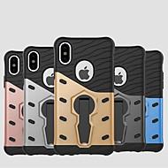 Недорогие Кейсы для iPhone 8 Plus-Кейс для Назначение Apple iPhone XR / iPhone XS Max Защита от удара / со стендом Кейс на заднюю панель броня Твердый ПК для iPhone XS / iPhone XR / iPhone XS Max