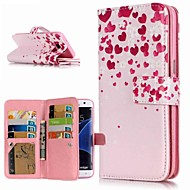 Недорогие Чехлы и кейсы для Galaxy S8-Кейс для Назначение SSamsung Galaxy S9 Plus / S8 Кошелек / Бумажник для карт / со стендом Чехол Цветы Твердый Кожа PU для S9 / S9 Plus / S8 Plus