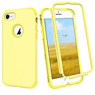 Недорогие Кейсы для iPhone 8-BENTOBEN Кейс для Назначение Apple iPhone 8 / iPhone 7 Защита от удара Чехол Однотонный Твердый Силикон / ПК для iPhone 8 / iPhone 7