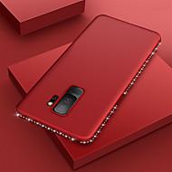 Недорогие Чехлы и кейсы для Galaxy S8-Кейс для Назначение SSamsung Galaxy S9 / S8 Ультратонкий / Матовое Кейс на заднюю панель Однотонный / Стразы Мягкий ТПУ для S9 / S9 Plus / S8 Plus