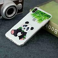 Недорогие Кейсы для iPhone 8 Plus-Кейс для Назначение Apple iPhone XR / iPhone XS Max Прозрачный / С узором Кейс на заднюю панель Панда Мягкий ТПУ для iPhone XS / iPhone XR / iPhone XS Max