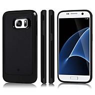 Недорогие Чехлы и кейсы для Galaxy S7-Кейс для Назначение SSamsung Galaxy S7 Защита от удара Кейс на заднюю панель Однотонный Твердый ТПУ / ПК для S7
