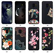 Недорогие Чехлы и кейсы для Galaxy A5(2016)-Кейс для Назначение SSamsung Galaxy A8 Plus 2018 / A8 2018 С узором Кейс на заднюю панель Животное / Цветы Мягкий ТПУ для A5(2018) / A6 (2018) / A6+ (2018)