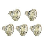 abordables Focos LED-5pcs 5 W 450 lm MR16 Focos LED T45 1 Cuentas LED COB Decoración de la boda de Navidad Blanco Cálido / Blanco 12 V