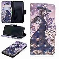 Недорогие Чехлы и кейсы для Galaxy S9 Plus-Кейс для Назначение SSamsung Galaxy S9 Plus / S8 Кошелек / Бумажник для карт / со стендом Чехол Животное Твердый Кожа PU для S9 / S9 Plus / S8 Plus