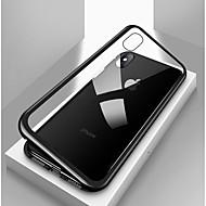 Etui Käyttötarkoitus Apple iPhone X / iPhone 8 / iPhone 8 Plus Iskunkestävä / Läpinäkyvä / Magneetti Suojakuori Yhtenäinen Kova Karkaistu lasi / Metalli varten iPhone X / iPhone 8 Plus / iPhone 8