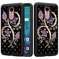 preiswerte Handyhüllen-Hülle Für LG K10 2018 / G7 Stoßresistent / Strass / Muster Rückseite Strass / Blume Hart PC für LG Stylo 4 / LG K10 2018 / LG K10 (2017)