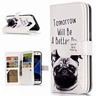 Недорогие Чехлы и кейсы для Galaxy S9-Кейс для Назначение SSamsung Galaxy S9 Plus / S8 Кошелек / Бумажник для карт / со стендом Чехол С собакой Твердый Кожа PU для S9 / S9 Plus / S8 Plus