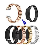 Недорогие Часы для Samsung-Ремешок для часов для Gear Fit 2 Samsung Galaxy Спортивный ремешок Нержавеющая сталь Повязка на запястье