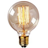 abordables Bombillas Incandescentes-1pc 40 W E26 / E27 G95 Blanco Cálido 2200-2700 k Retro / Regulable / Decorativa Bombilla incandescente Vintage Edison 220-240 V
