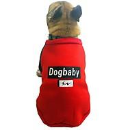 abordables -Chiens Sweatshirt Vêtements pour Chien Personnage / Britannique / Slogan Gris / Rouge Coton Costume Pour les animaux domestiques Unisexe Style Mignon / Décontracté / Quotidien