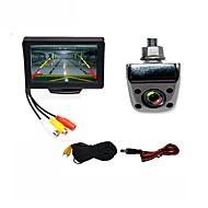 Недорогие Автоэлектроника-BYNCG WG4.3T-4LED 4.3 дюймовый TFT-LCD 480TVL 480p 1/4 дюйма, цветная КМОП Проводное 120° 1 pcs 120 ° 4.3 дюймовый