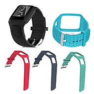 Недорогие Аксессуары для смарт-часов-Ремешок для часов для TomTom Multi-Sport GPS+HRM TomTom Спортивный ремешок силиконовый Повязка на запястье