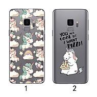 Недорогие Чехлы и кейсы для Galaxy S7-Кейс для Назначение SSamsung Galaxy S9 Plus / S9 Ультратонкий / Прозрачный Кейс на заднюю панель Фламинго Мягкий ТПУ для S9 / S9 Plus / S8 Plus