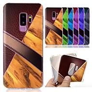 Недорогие Чехлы и кейсы для Galaxy S9-Кейс для Назначение SSamsung Galaxy S9 Plus / S9 С узором Кейс на заднюю панель Имитация дерева / Мрамор Мягкий ТПУ для S9 / S9 Plus
