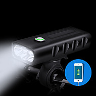 お買い得  フラッシュライト/ランタン/ライト-自転車用ヘッドライト LED 自転車用ライト サイクリング 防水, クイックリリース, 耐久 充電式リチウムイオン電池 1000 lm ホワイト キャンプ / ハイキング / ケイビング / サイクリング