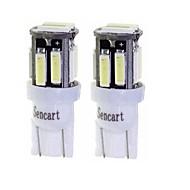 abordables Luces de Exterior para Coche-SENCART 2pcs T10 / BA9S Motocicleta / Coche Bombillas 3 W SMD 7020 160 lm 10 LED Luz de Intermitente / Motocicleta / Luces interiores Para