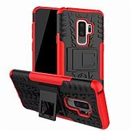 Недорогие Чехлы и кейсы для Galaxy S9 Plus-Кейс для Назначение SSamsung Galaxy S9 Plus со стендом Кейс на заднюю панель броня Твердый ПК для S9 Plus