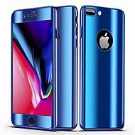 Недорогие Кейсы для iPhone 8 Plus-Кейс для Назначение Apple iPhone 8 Plus / iPhone 7 Plus Зеркальная поверхность / Ультратонкий Чехол Однотонный Твердый ПК для iPhone 8 Pluss / iPhone 7 Plus