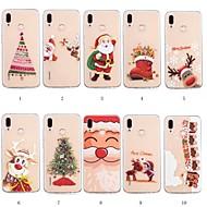 voordelige Mobiele telefoonhoesjes-hoesje Voor Huawei P20 lite / Huawei P Smart Plus Patroon Achterkant Kerstmis Zacht TPU voor Huawei P20 lite / P smart / Huawei P Smart Plus