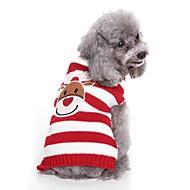 levne -Psi svetry Oblečení pro psy vyšívání / Barvená příze / Postavička Černá / Červená Terylen Kostým Pro domácí mazlíčky Unisex Sweet Style / Běžné / Denní