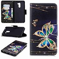 preiswerte Handyhüllen-Hülle Für Xiaomi Xiaomi Pocophone F1 / Redmi 6 Geldbeutel / Kreditkartenfächer / mit Halterung Ganzkörper-Gehäuse Schmetterling Hart PU-Leder für Redmi Note 5A / Xiaomi Redmi Note 5 Pro / Xiaomi