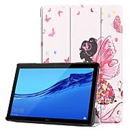 お買い得  携帯電話ケース-ケース 用途 Huawei Huawei Mediapad T5 10 / MediaPad T3 10(AGS-W09, AGS-L09, AGS-L03) スタンド付き / フリップ / パターン フルボディーケース セクシーレディ ハード PUレザー のために Huawei Mediapad T5 10 / Huawei MediaPad T3 10(AGS-W09, AGS-L09
