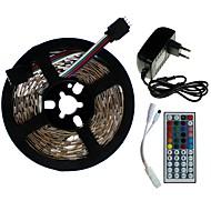 billiga -SENCART 5m Ljusuppsättningar 300/150 lysdioder SMD5050 1 44Kör fjärrkontrollen / 1 x 2A nätadapter RGB Klippbar / Kopplingsbar / Lämplig för fordon 100-240 V 1set