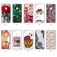 preiswerte Handyhüllen-Hülle Für Huawei P10 Lite Staubdicht / Ultra dünn / Muster Rückseite Sexy Lady / Cartoon Design / Lace Printing Weich TPU für P10 Lite
