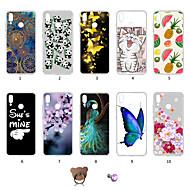 お買い得  携帯電話ケース-ケース 用途 Huawei P20 lite 耐埃 / 超薄型 / パターン バックカバー バタフライ / 風景 / カラーグラデーション ソフト TPU のために Huawei P20 lite